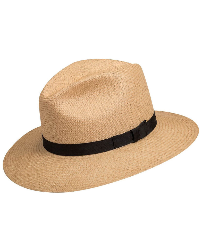 Bailey Women's Dark Panama Player Western Straw Hat , No Color, hi-res