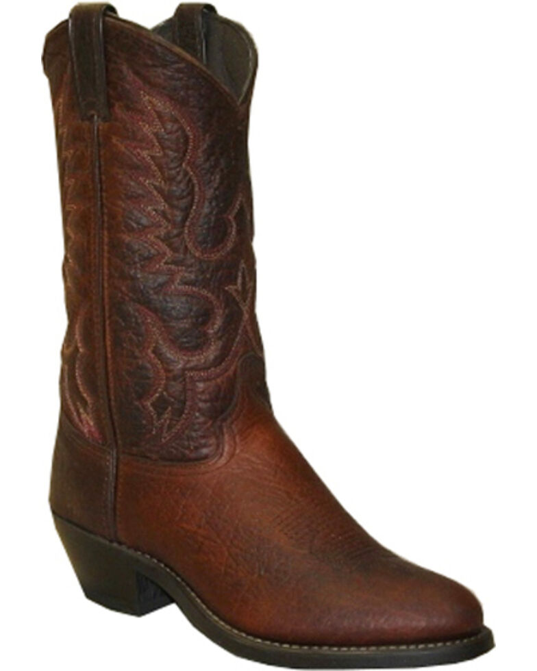 "Abilene Men's 12"" Bison Western Boots, Brown, hi-res"