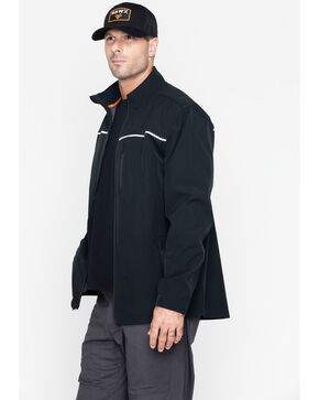 Hawx® Men's Soft-Shell Work Jacket - Big & Tall , Black, hi-res