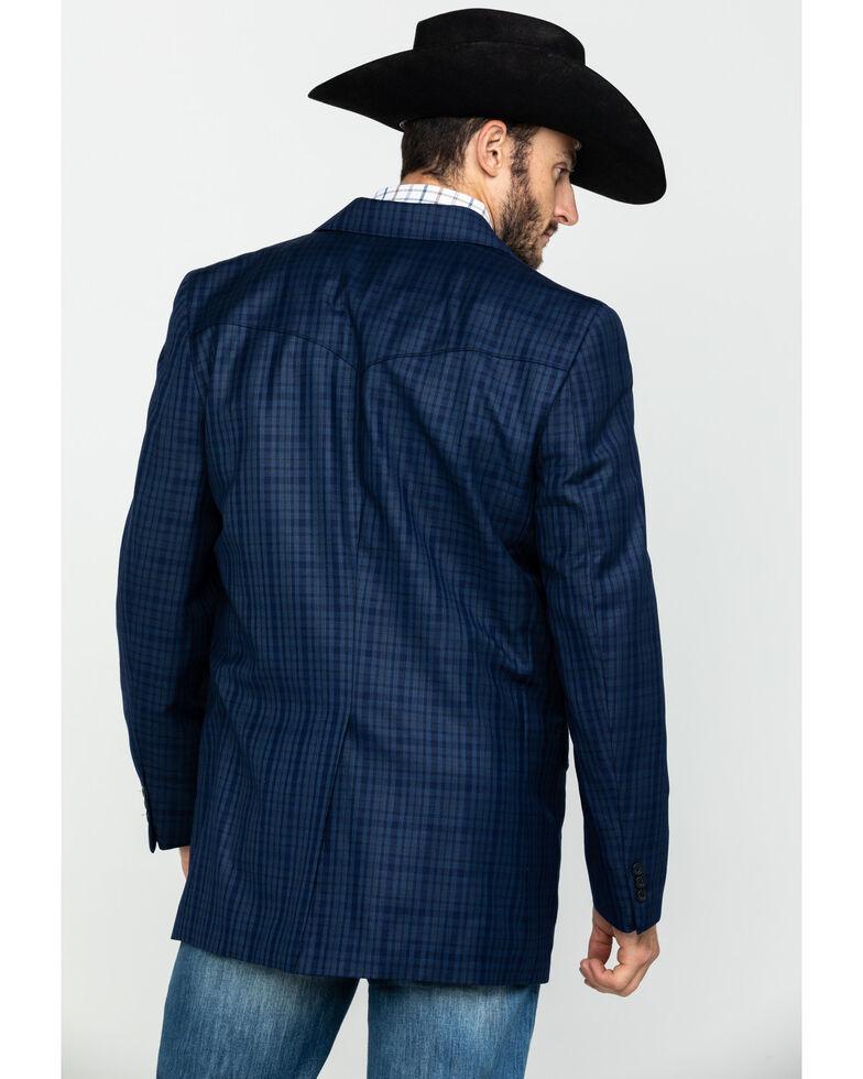 Cripple Creek Men's Window Pane Plaid Houston Sport Coat - Big , Blue, hi-res