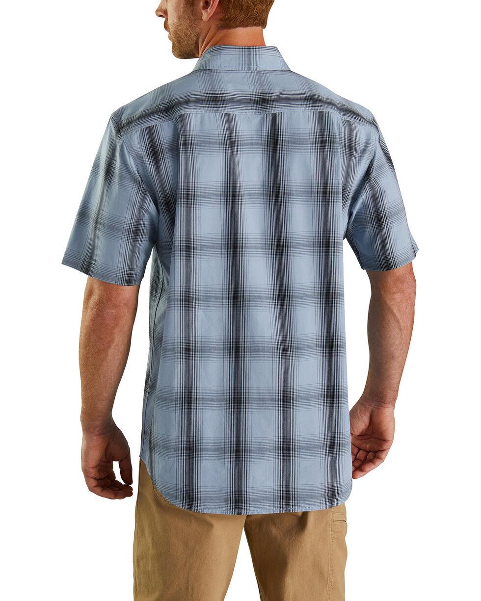 Carhartt Men's Essential Plaid Short Sleeve Work Shirt - Big , Blue, hi-res