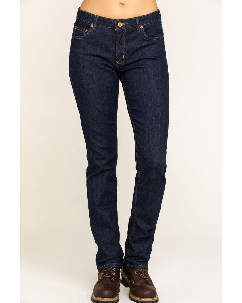 Dickies Women's Perfect Shape Denim Straight Jeans, Indigo, hi-res