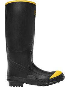 LaCrosse Men's Premium Knee Steel Toe Work Boots, Black, hi-res