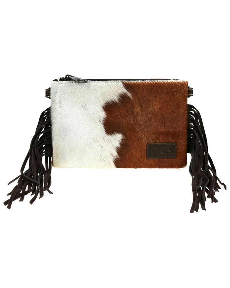 Montana West Women's Friday Hair-On Tonal Crossbody Bag, Brown, hi-res