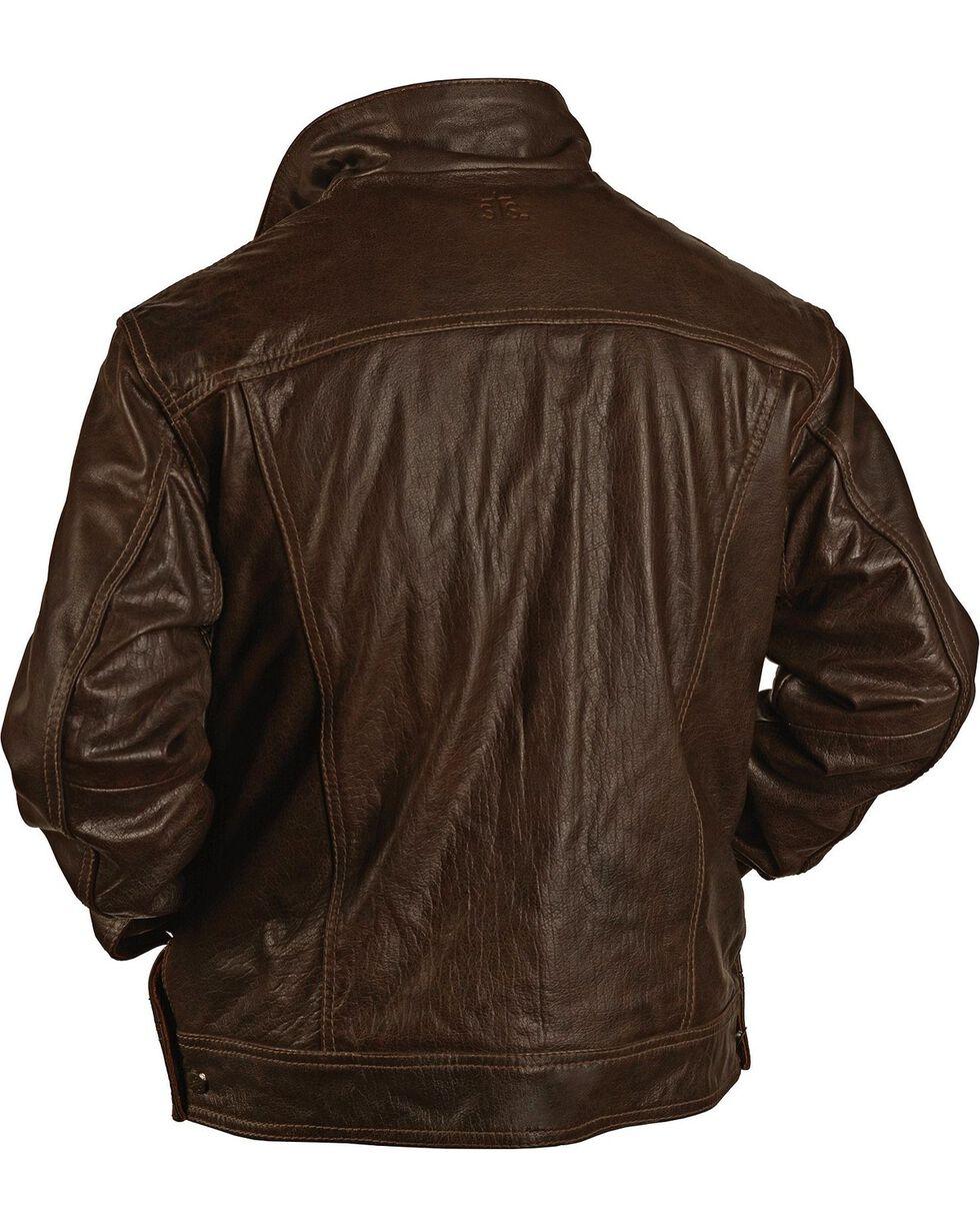 STS Ranchwear Men's Maverick Brown Leather Jacket - Big & Tall - 2XL & 3XL, Brown, hi-res