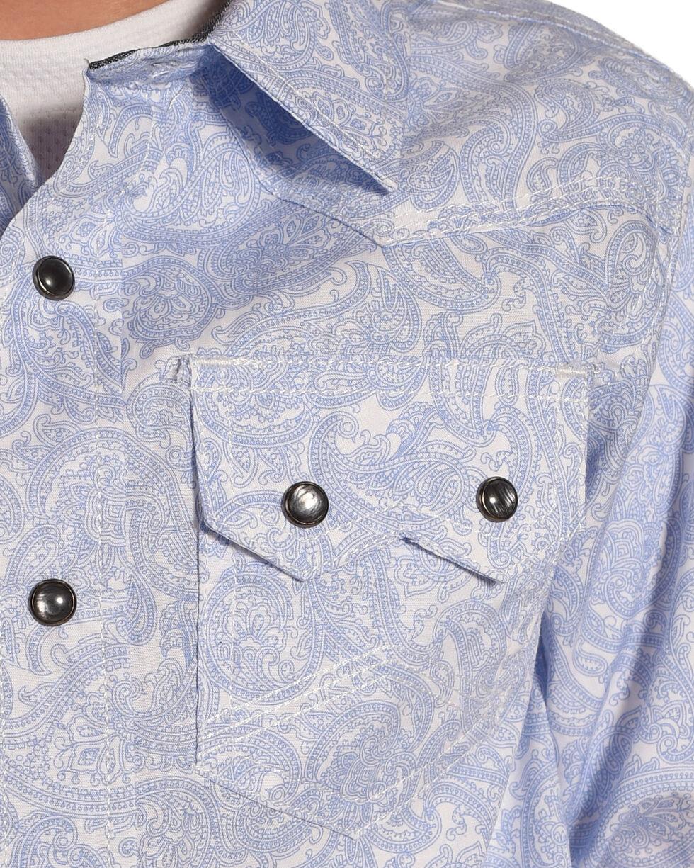 Cody James Boys' Skyline Print Long Sleeve Snap Shirt, Blue, hi-res
