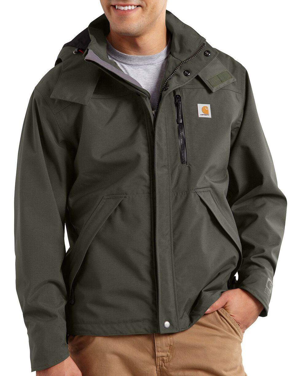 Carhartt Men's Waterproof Jacket, Olive, hi-res
