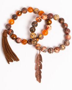 Shyanne Women's Texas Rose Multi-Beaded Stretch Bracelet Set, Rust Copper, hi-res