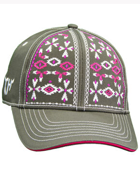 Cowgirl Hardware Women's Aztec Snap Cap, Black, hi-res
