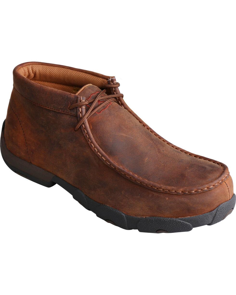 Twisted X Men's Peanut Steel Toe Driving Moc Work Shoes, Peanut, hi-res