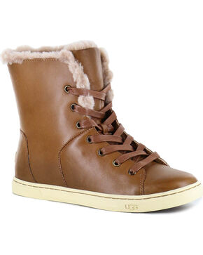 UGG® Women's Croft Luxe Quilt Shoes, Chestnut, hi-res