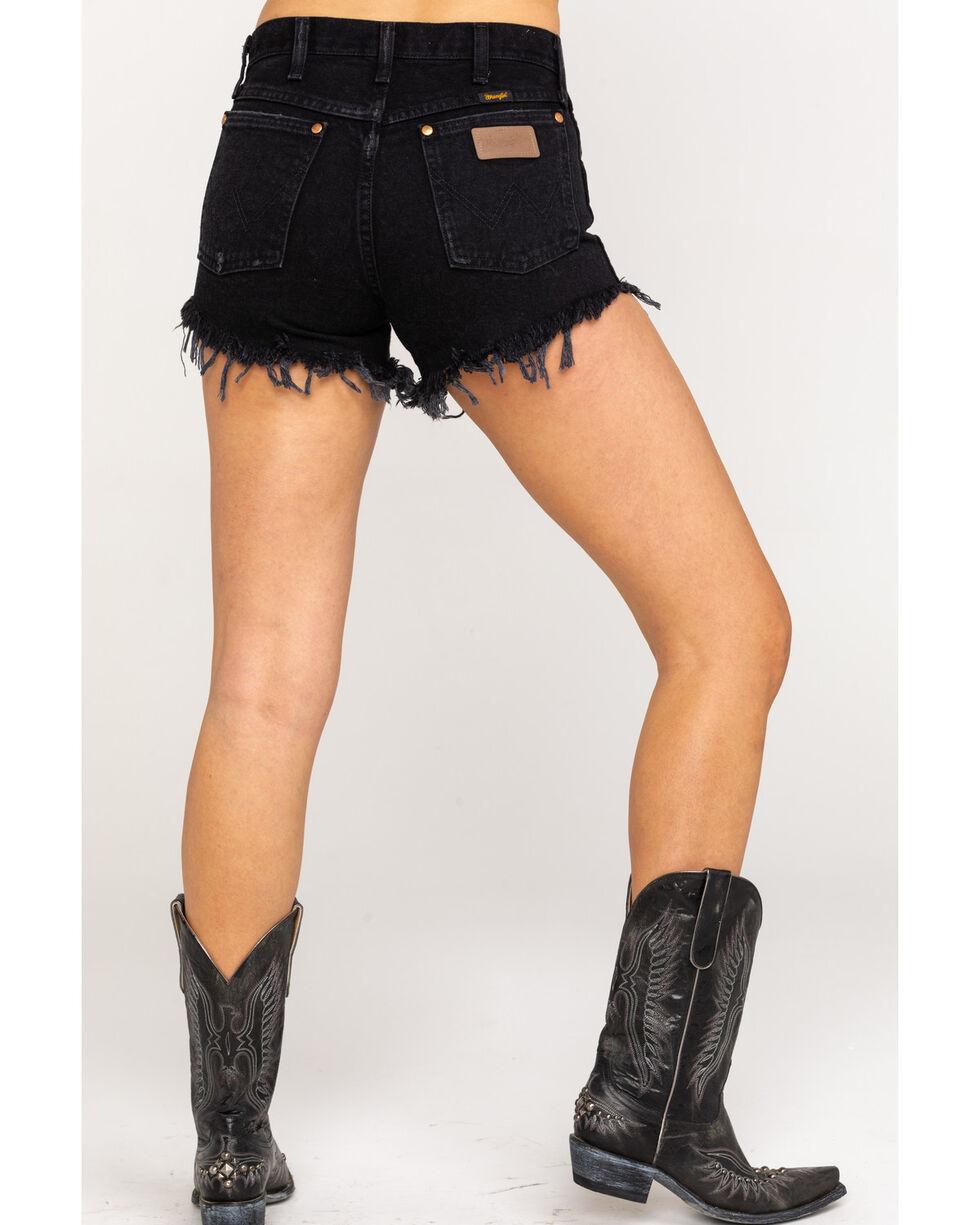 Wrangler Women's Black Modern Heritage Frayed Hem Shorts , Black, hi-res