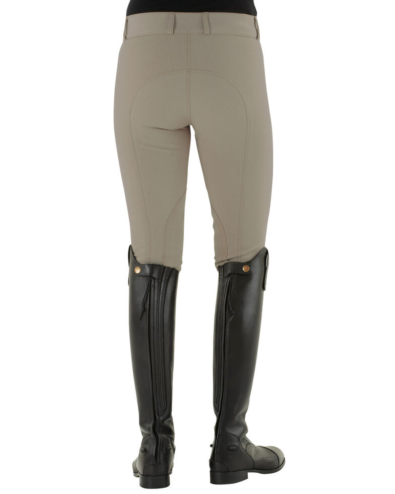 Ovation Women's Teen Celebrity DX Knee Patch Breeches, Beige, hi-res