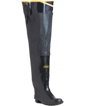 "Lacrosse Men's 32"" Premium Rubber Hip Boots, Black, hi-res"