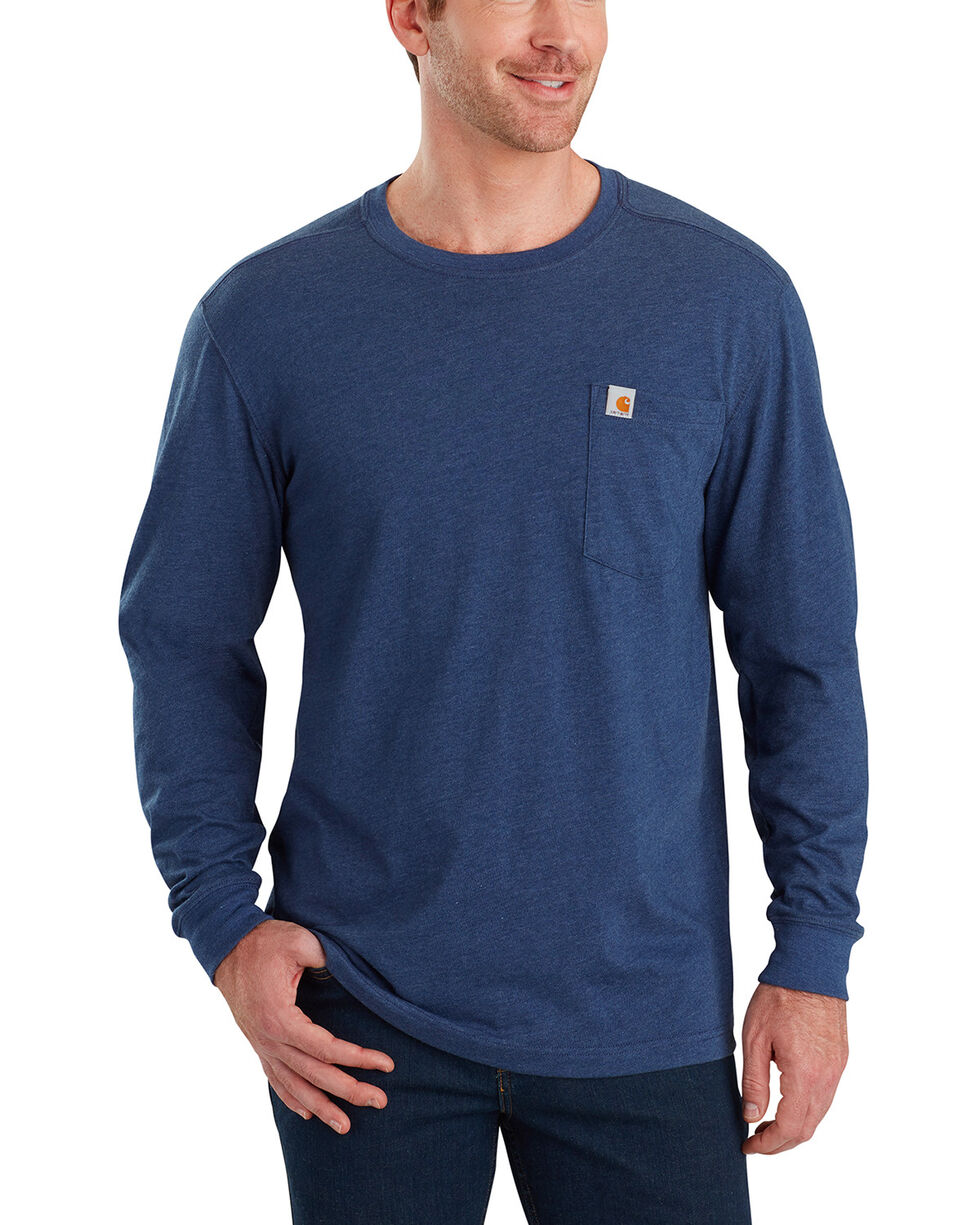 Carhartt Men's Maddock Tool Graphic Long-Sleeve T-Shirt , Indigo, hi-res