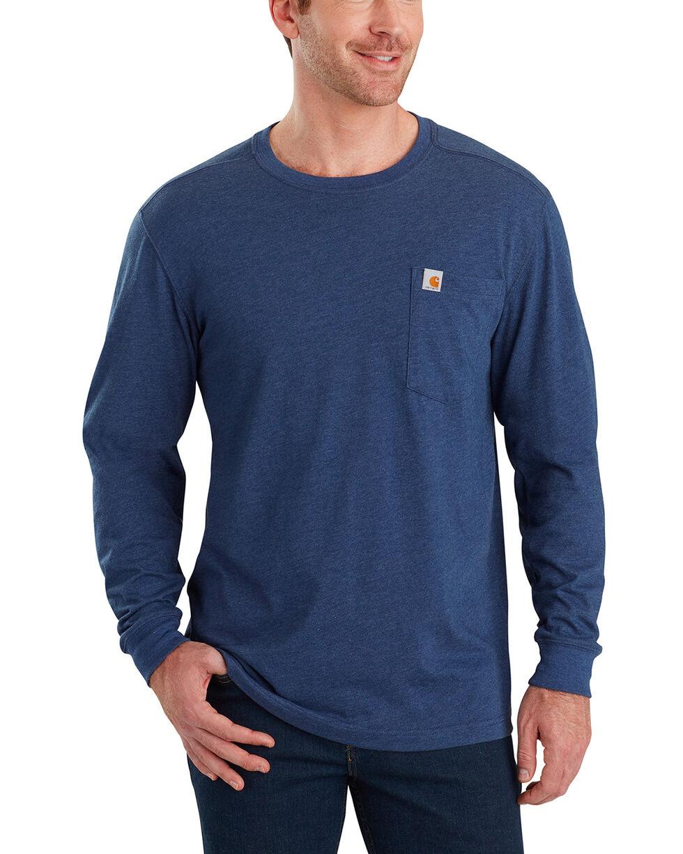 Carhartt Men's Maddock Tool Graphic Long-Sleeve T-Shirt - Big, Indigo, hi-res