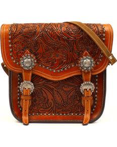 Blazin Roxx Women's Shiloh Concealed Carry Saddle Bag, Brown, hi-res