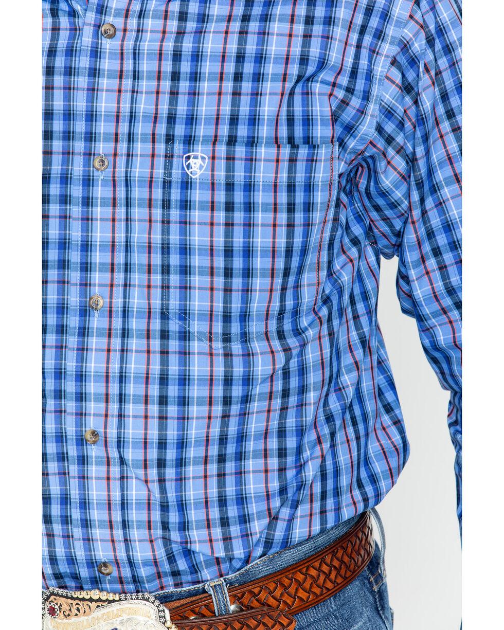 Ariat Men's Blue Plaid Long Sleeve Shirt, Blue, hi-res