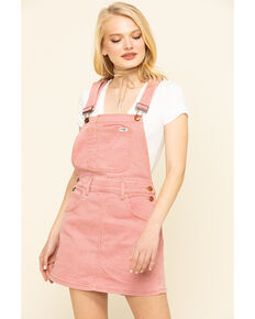 Wrangler Modern Women's Pink Denim Overall Dress, Pink, hi-res