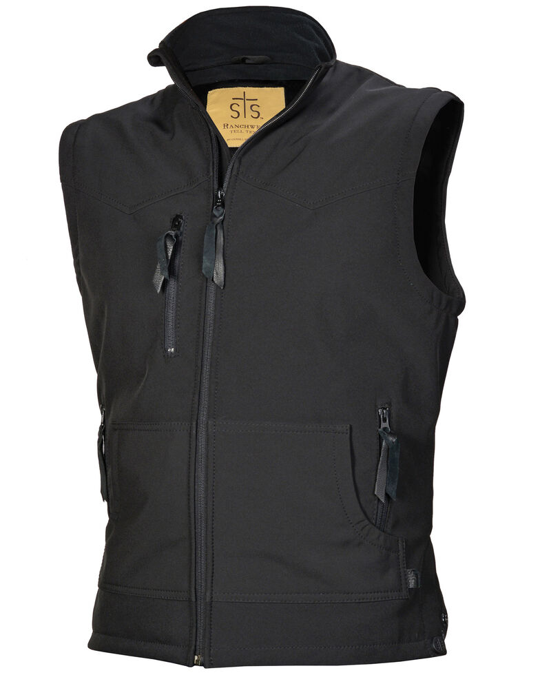 STS Ranchwear Men's Black Barrier Vest , Black, hi-res