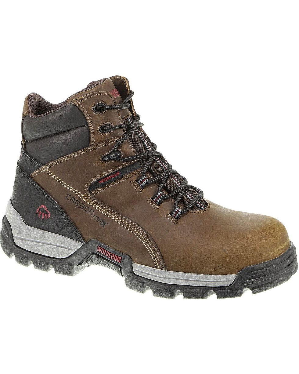 "Wolverine Men's Tarmac 6"" Comp Toe WPF Work Boots, Cinnamon, hi-res"
