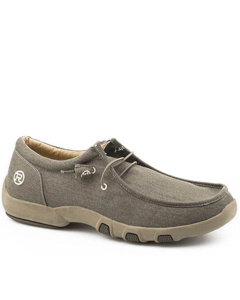 Roper Men's Chillin Brown Shoes - Moc Toe, Brown, hi-res
