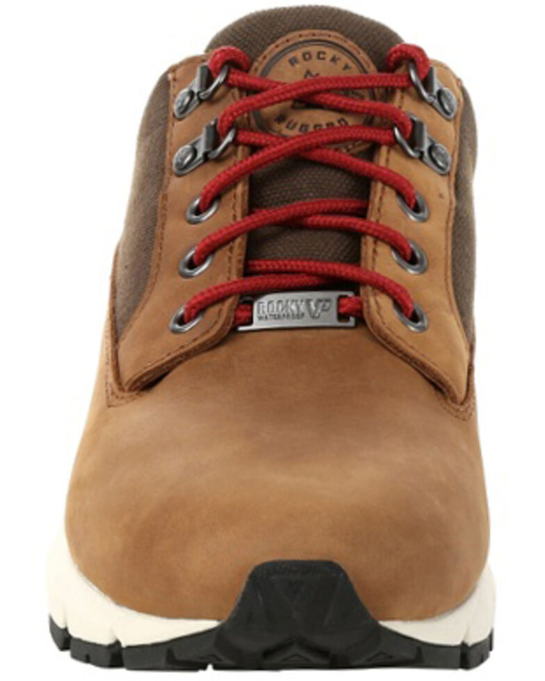 Rocky Men's Rugged Waterproof Outdoor Sneakers - Soft Toe, Brown, hi-res
