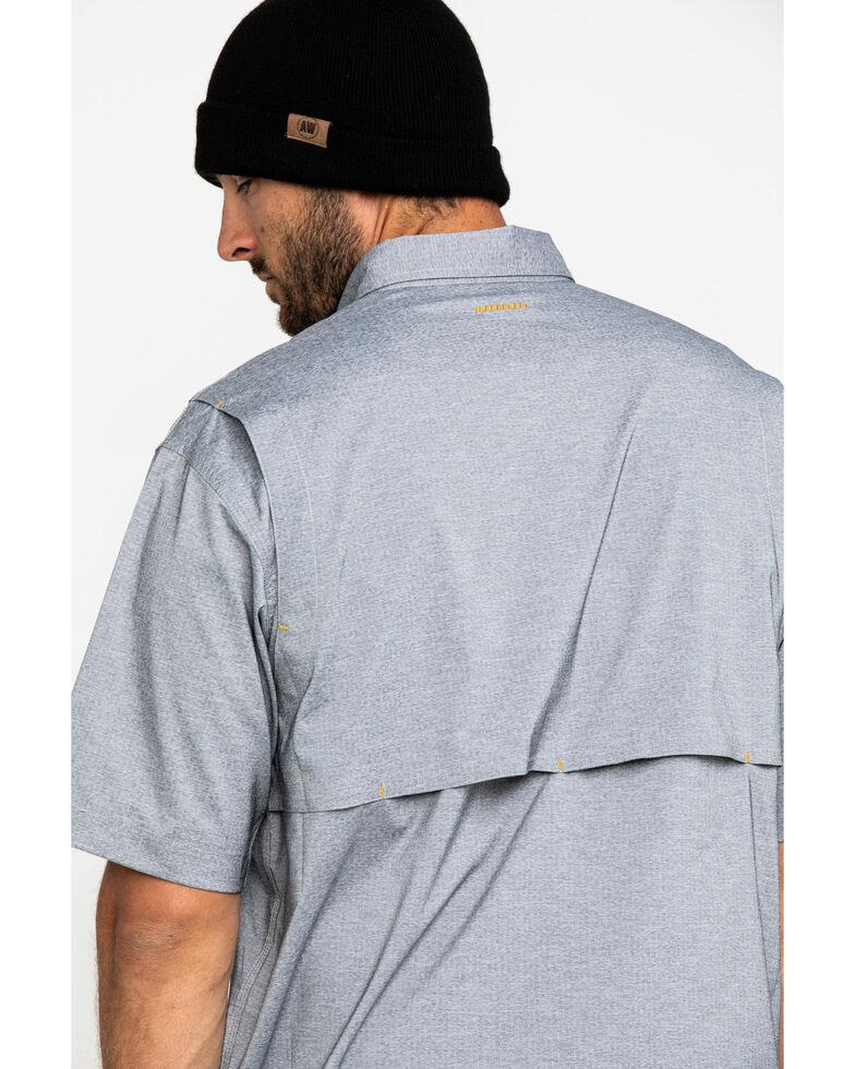 Ariat Men's Grey Rebar Made Tough Durastretch Vent Short Sleeve Work Shirt , Heather Grey, hi-res