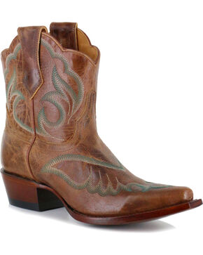 Shyanne® Women's Embroidered Western Booties, Tan, hi-res