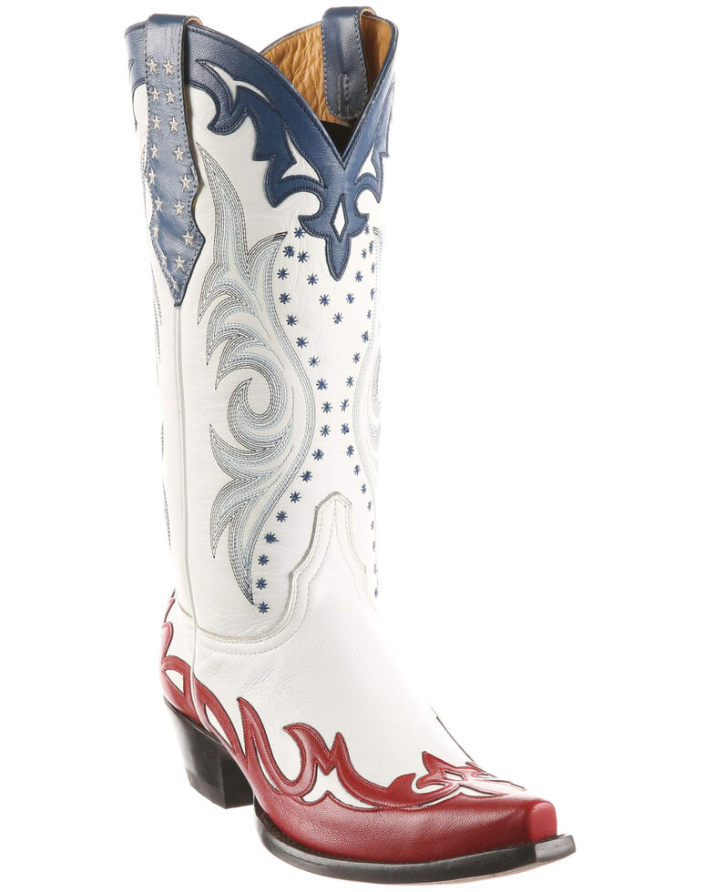 Old Gringo Women's Vencida Western Boots - Snip Toe, White, hi-res