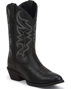 Justin Men's Stampede All Star Western Boots, Black, hi-res