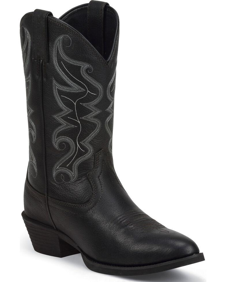 Justin Men's Stampede All Star Western Boots, Black, hi-res