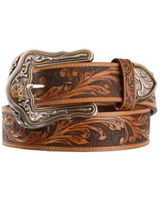 Tony Lama Men's Westerly Ride Belt, Tan, hi-res