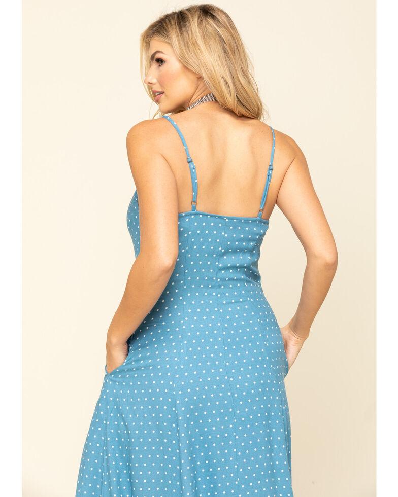 Idyllwind Women's Blue Down Home Polka Dot Maxi Dress, Blue, hi-res