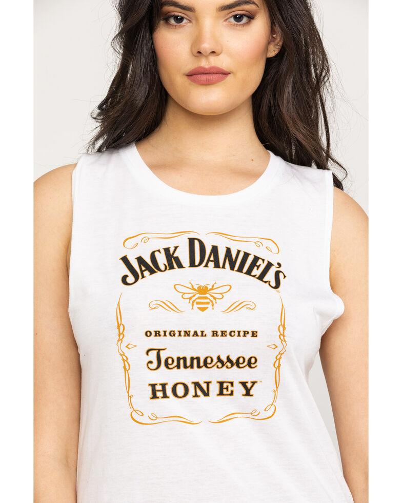 Jack Daniel's Women's Ivory Tennessee Honey Muscle Tank, Ivory, hi-res