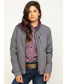 Cinch Women's Printed Bonded Carry Concealed Jacket  , Grey, hi-res