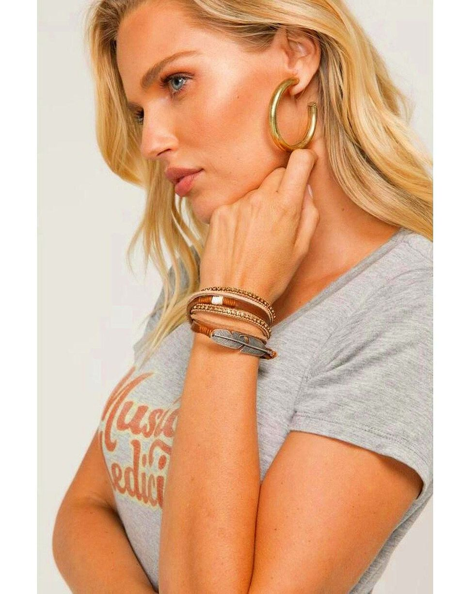 Idyllwind Women's Roots And Wings Leather Bracelet, Brown, hi-res
