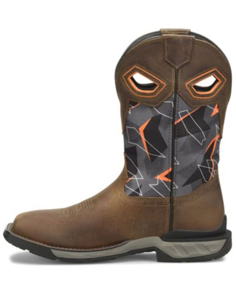 Double H Men's Zander Waterproof Western Work Boots - Composite Toe, Medium Brown, hi-res