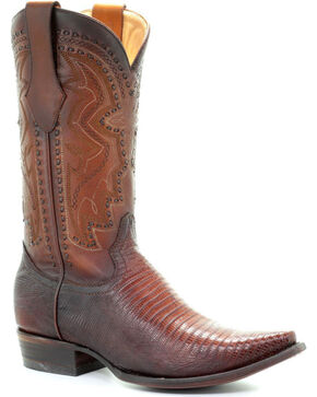 Corral Men's Brown Lizard Cowboy Boots - Snip Toe, Brown, hi-res