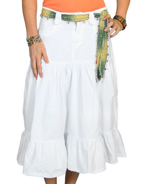 Scully Jean Style Skirt, White, hi-res