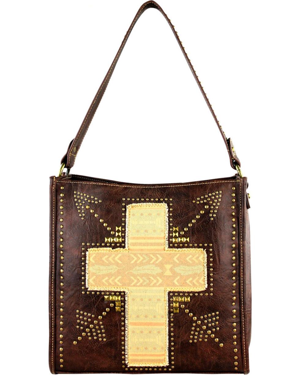 Montana West Spiritual Cross Vintage Print Handbag, , hi-res