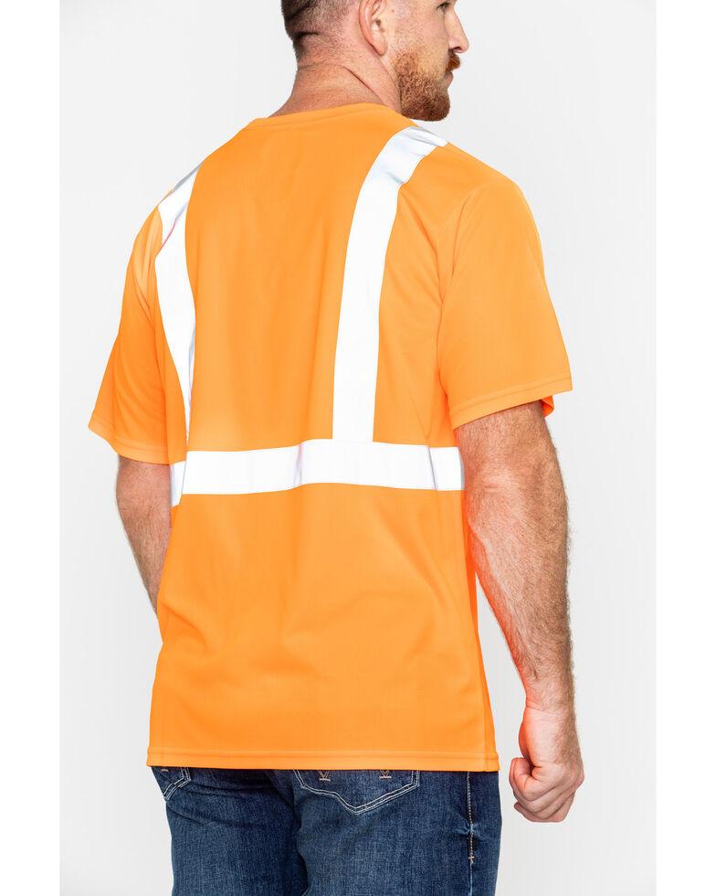 Hawx® Men's Short Sleeve Reflective Work Tee , Orange, hi-res