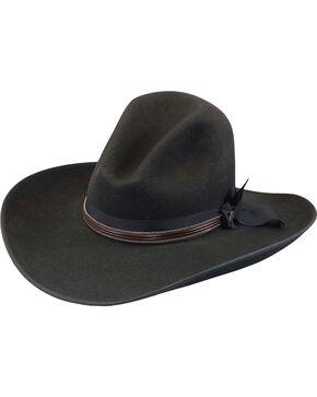 Justin Men's Black 7X Fur Felt Quick Draw Cowboy Hat, Black, hi-res