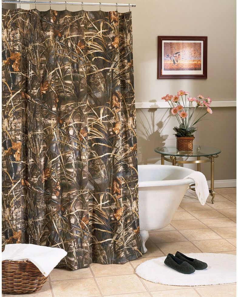 Realtree MAX 4 Camo Shower Curtain Camouflage Hi Res