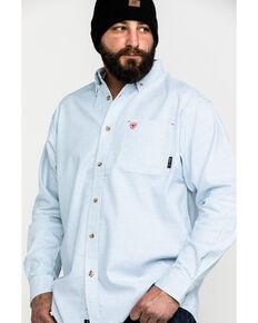 Ariat Men's White FR Solid Durastretch Long Sleeve Work Shirt - Big, White, hi-res