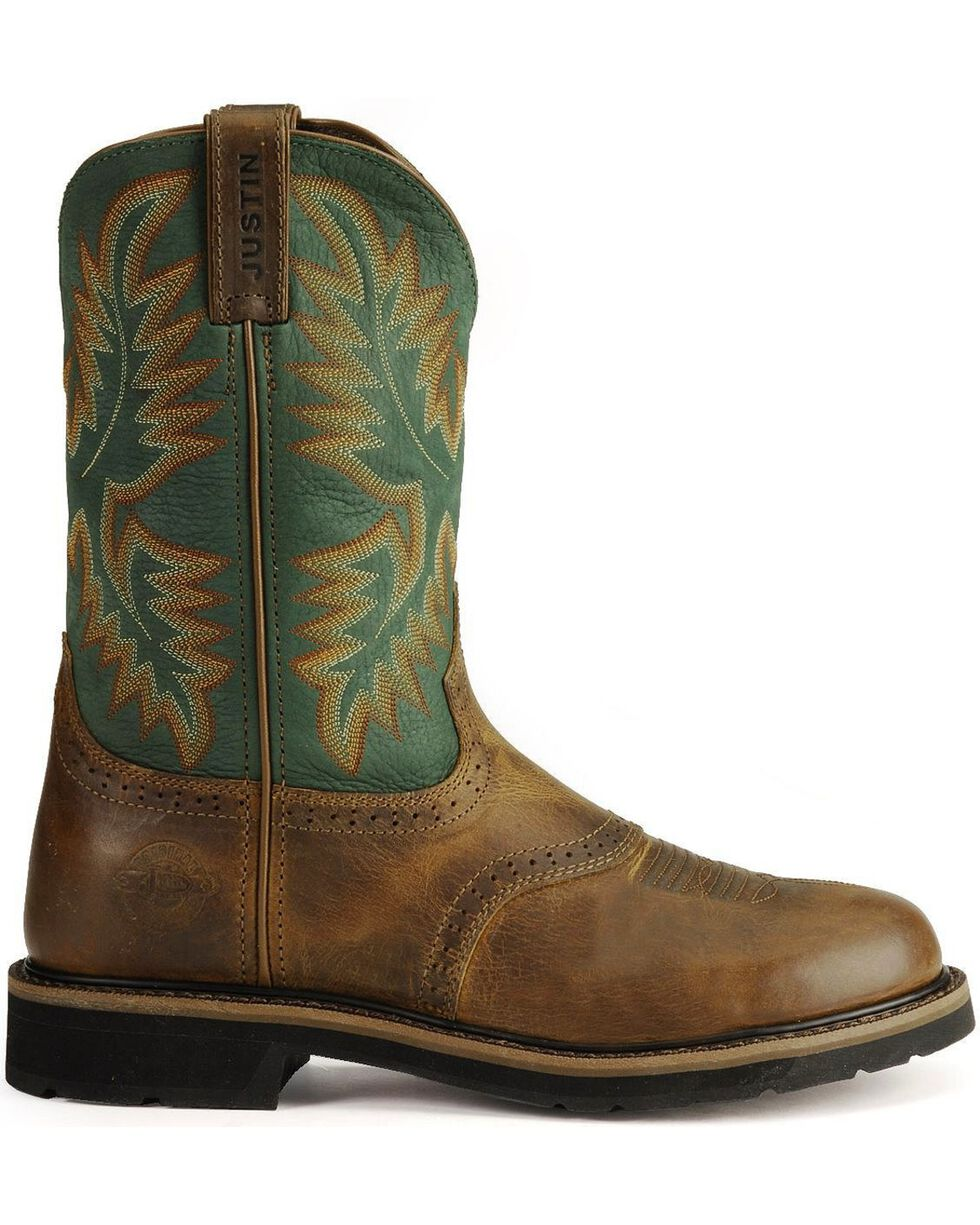 Justin Men's Stampede Collection Western Work Boots, Tan Tail, hi-res