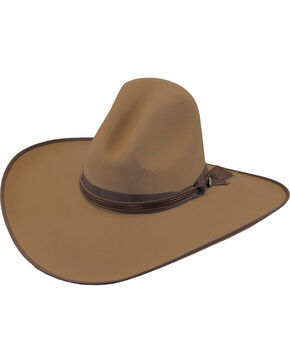 Justin Men's Pecan 7X Fur Felt Quick Draw Cowboy Hat, Pecan, hi-res