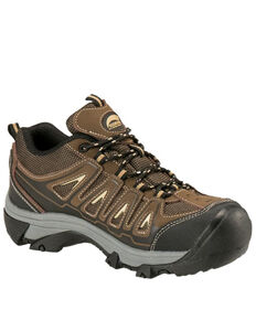 Avenger Women's Trench Waterproof Work Shoes - Steel Toe, Brown, hi-res