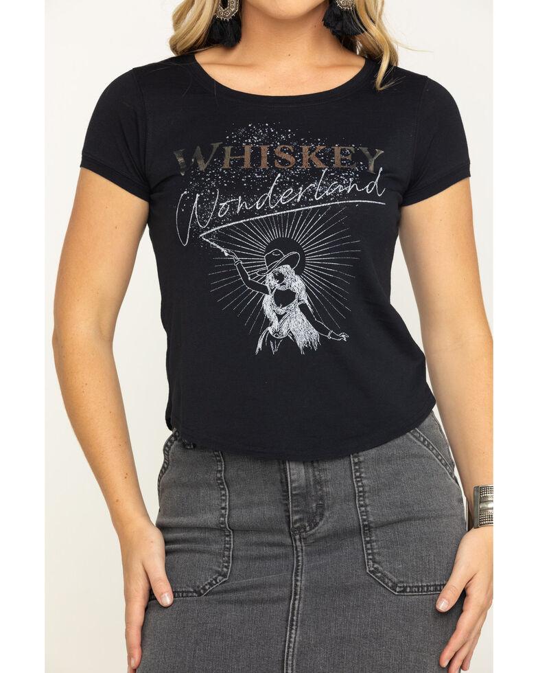 Shyanne Women's Black Whiskey Wonderland Graphic Tee , Black, hi-res