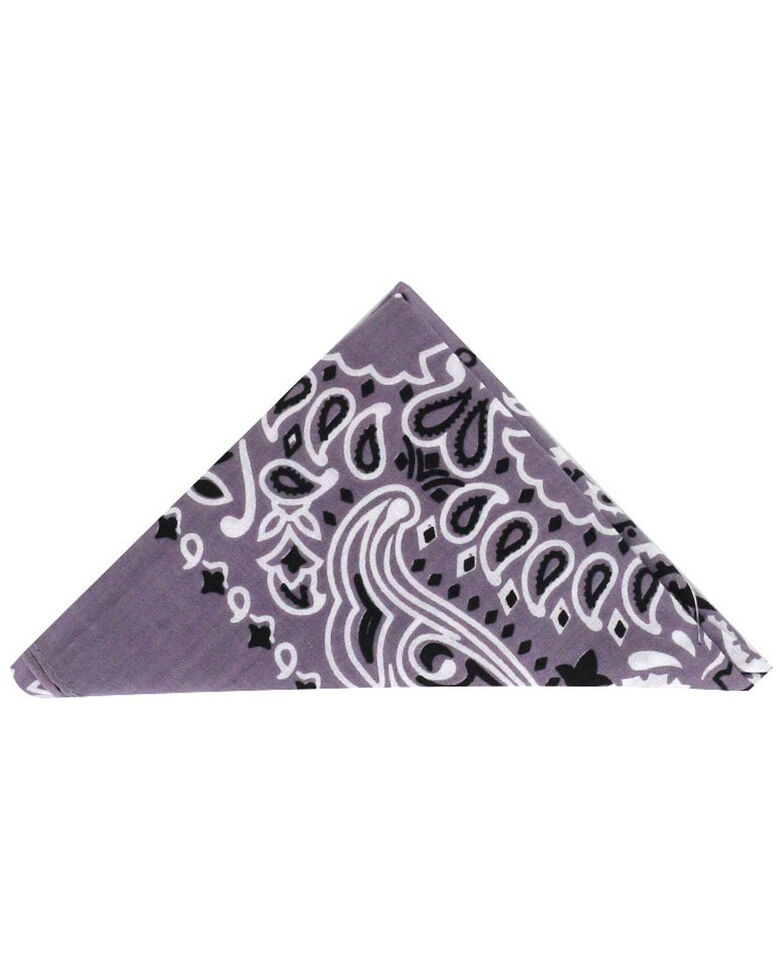 Cody James Men's Indigo Western Bandana, Grey, hi-res